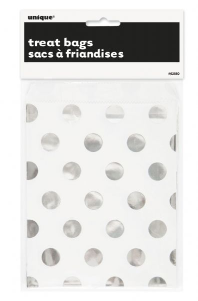 Silver Dots Treat Bags (8)